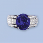 nr. 85, 7,09 cts oval sapphire